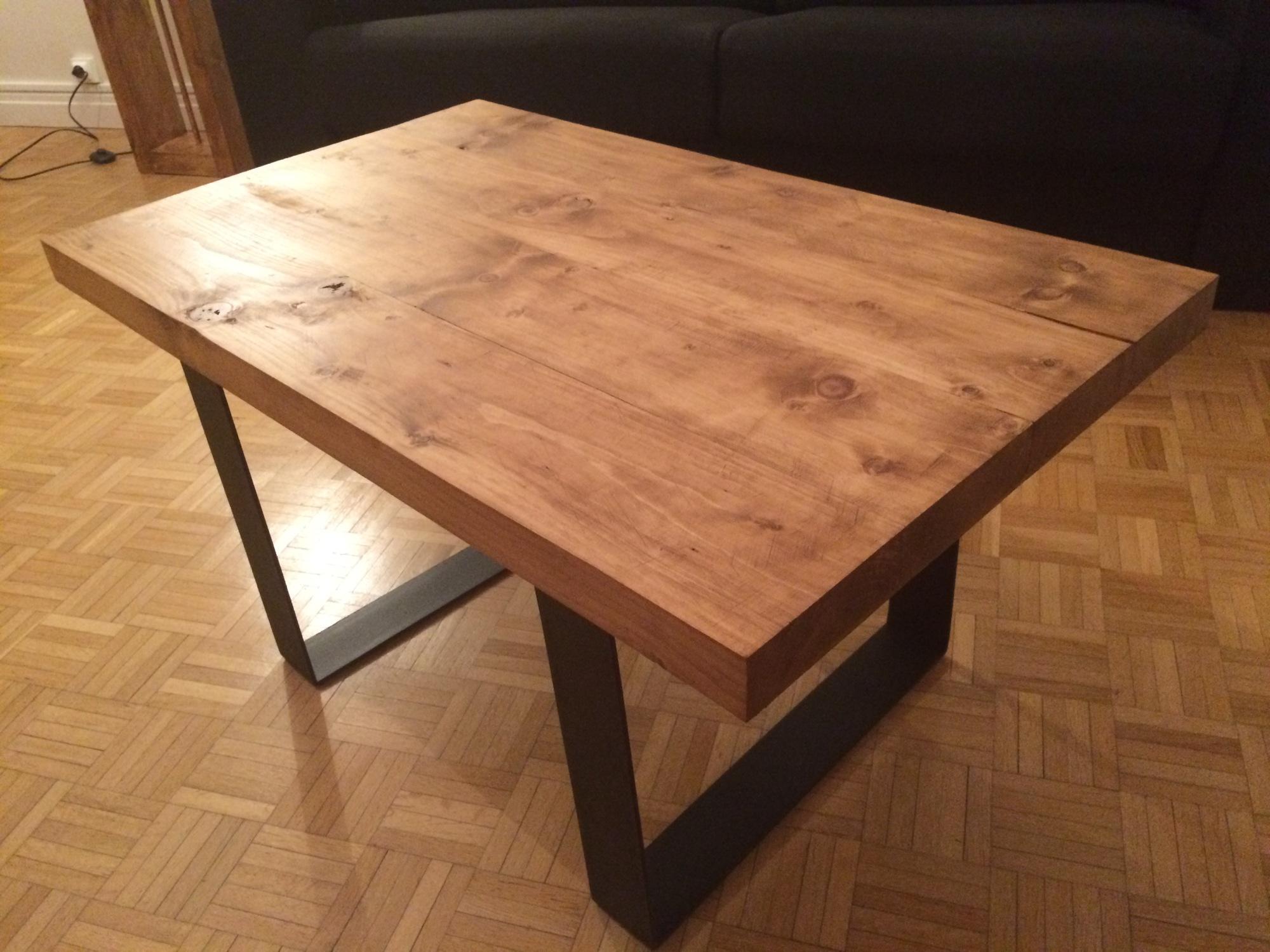 Tuto Table Basse Bois une table basse en bois et métal – tout est diy